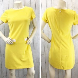 Tommy Hilfiger Yellow Shift Dress Sz 6 ::XE28